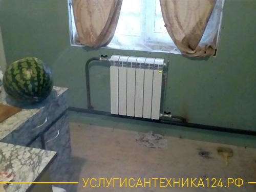 Установка радиатора в частном доме
