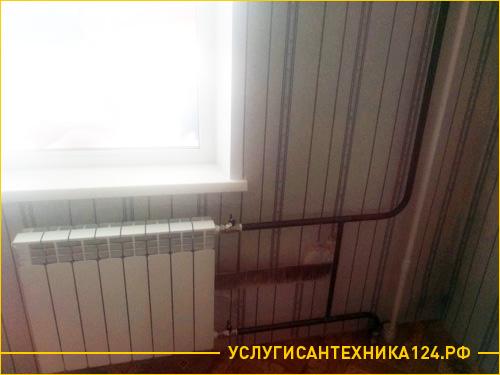 Замена радиатора вместе со стояком отопления