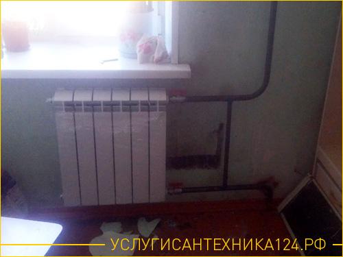 Результат по переносу алюминиевого радиатора