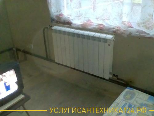 Результат установки радиатор в большой строящемся доме