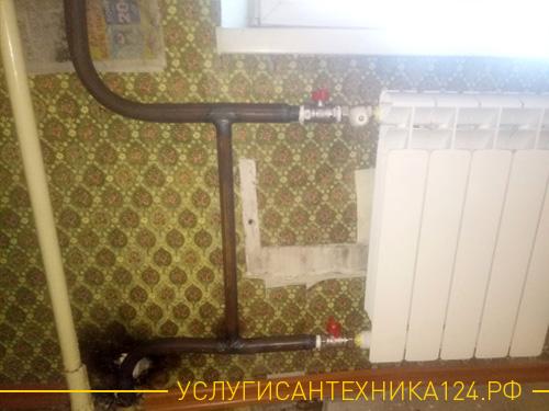 Результат установки нового радиатора вместо старого