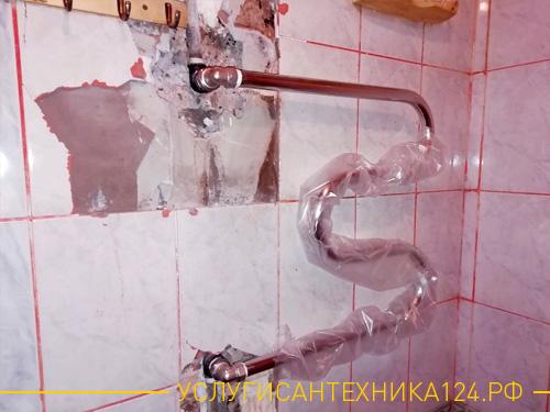 Замена полотенцесушителя во время ремонта