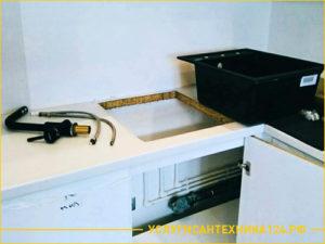 Подготовка к установке раковины на кухне
